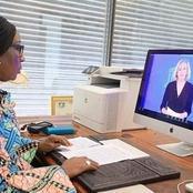 Ces photos de la ministre Kandia Camara en pleine séance de travail séduisent l'opinion