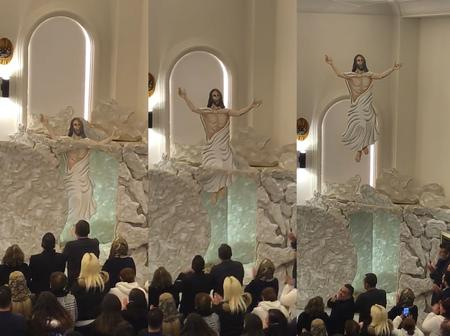 Check out how this Christian Church demonstrated the resurrection of Jesus Christ
