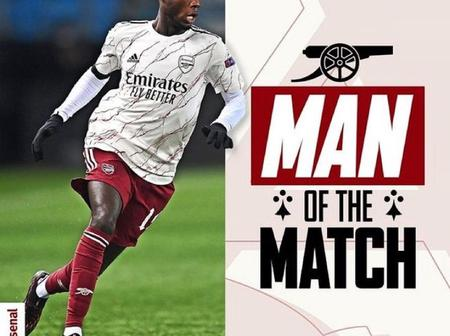 Lacazette and Aubameyang react to Nicolas Pepe's post after winning the Man of the Match (Photos)