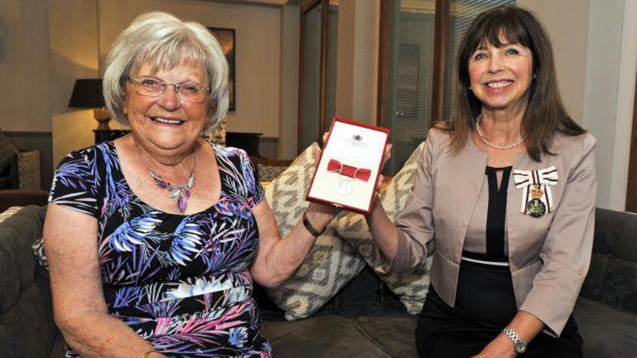 Irvine volunteer Margaret Cook awarded her BEM from Queen
