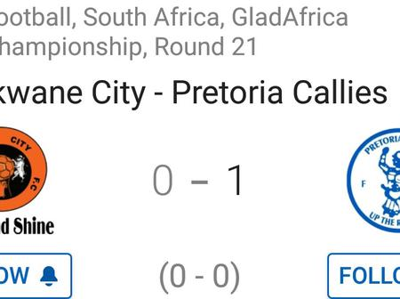 Pretoria Callies won 1-0 against Polokwane City after 4 matches without a win.