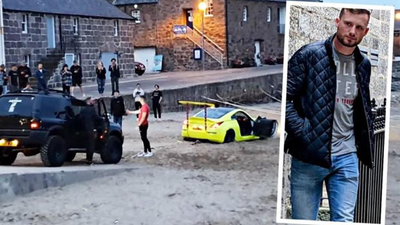 Driver of car stuck in sand at Stonehaven harbour was banned from driving