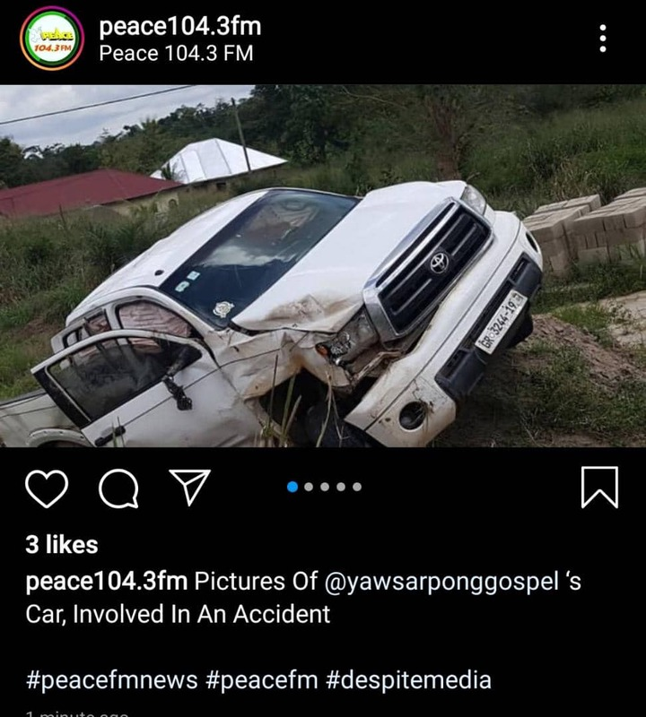 cebcb00d56de1b6dff03809d931a24b3?quality=uhq&resize=720 - Sad: Gospel Musician, Yaw Sarpong Involved In A Car Accident (Photos)