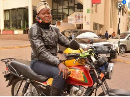 A Woman Who Purchased Land As A Motorbike Rider