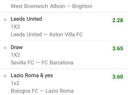 Best Of Special Six Matches with Correct Score (CS) To Bank On And Win Massively Tonight