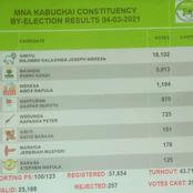 Kabuchai And Matungu Provisional By-election Results