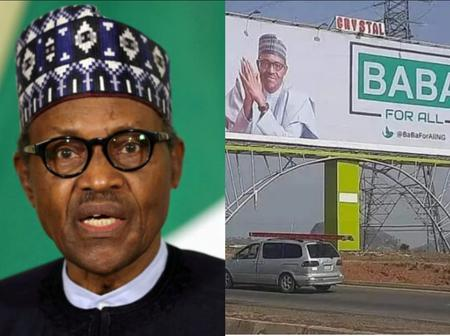Man Cries Out After He Noticed Buhari's Billboard All Over Abuja