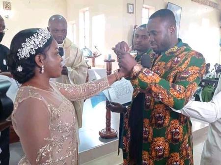 Photos: An Igbo man in Kampala weds wife as he is seen wearing the Isiagu Attire