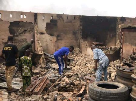 Checkout These Pictures Of Goods Worth Millions That Were Burnt After The Fire Outbreak In Ibadan