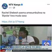 Former Nairobi Women Representative Rachel Shebesh Reveals A Disease She is Fighting