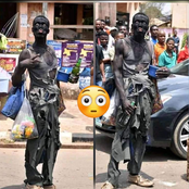 He Is Not Mad, See Why He Is Dressed In A Dirty Outfit