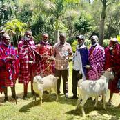 Kenyans Blast Raila as He Reveals Details of His Early Morning Meeting That Saw Him Receive Goats