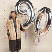 Lady celebrates her 90 years old grandmother's birthday in grand style