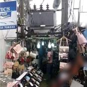 Madness or Industrious; Check where this man built his shop that got people talking