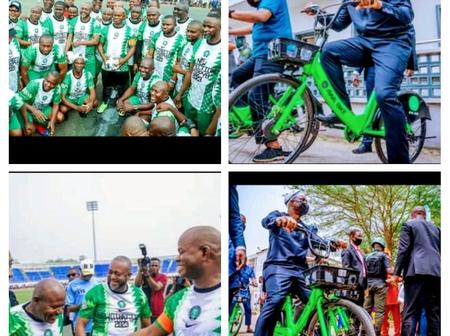 After Gov. Yahaya Bello Was Seen Playing Football, See What Gov. Seyi Makinde Was Seen Doing.