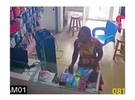 CCTV Camera Captures The Moment A Lady Stole At A Phone Shop In Port Harcourt