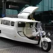 See The Tricycle That is Equipped With Television, Sound System And Air Conditioner (PHOTOS)
