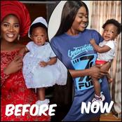Mercy Johnson's 10 months old baby has really grown, check out her recent looks.(photos)
