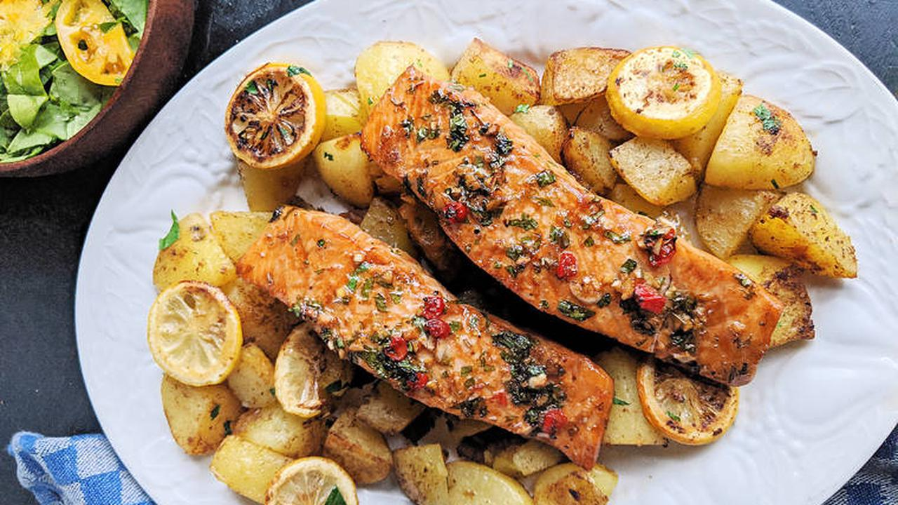 Feel good food: Soy-glazed roasted salmon with spiced potatoes