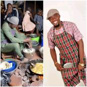 Nigerian Man Shows Off His Frying Skills By Preparing Akara, See The Photos He Shared (Photos)