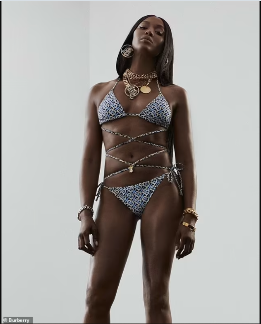 Naomi Campbell showcases her age-defying physique in new swimwear photos