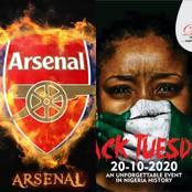 LEKKI MASSACRE: See The Message Premier League Club Arsenal Sent To Their Nigerian Fans.