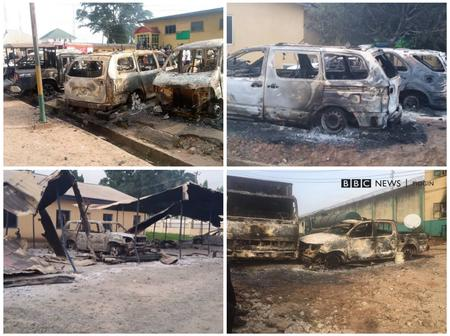 Checkout The Havoc Done By Unknown Gunmen in Police Headquarters Owerri, Imo State