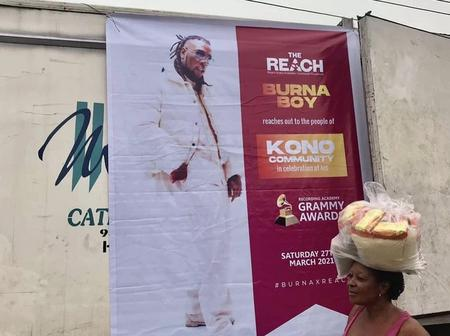 Days after Burna Boy won Grammy, See what he did to his community that made people commend him (Photos)