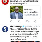 Luhya Presidential Aspirants Are Jockers, Says Oparanya