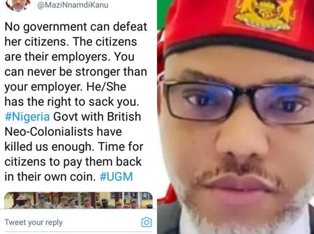 ''You Can Never Be More Than Your Employer'', Nnamdi Kanu Blows Hot On Twitter