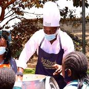 Leadership And Humanity, Kenyans Impressed With Senator Sakaja Food For Education Program.(Photo)