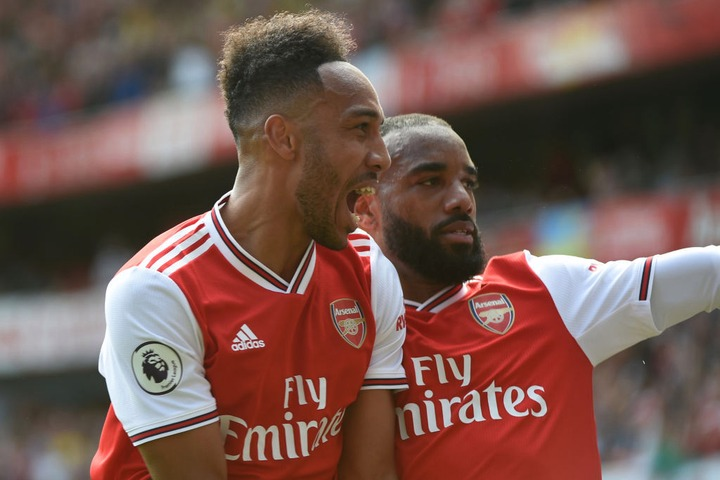 Alexandre Lacazette is hoping Pierre-Emerick Aubameyang will stay at Arsenal