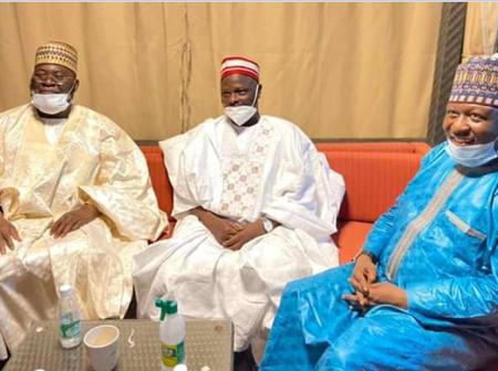 Photos: Sheikh Bala Lau with Sheikh Kabiru Gombe Pay a Condolence Visit to Sen. Rabiu Kwankwaso