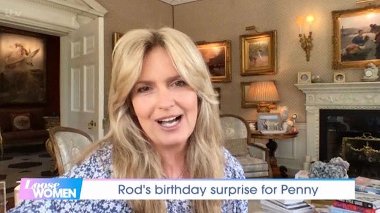 Rod Stewart's wife Penny Lancaster talks 'guilt' splitting her time with him and two sons