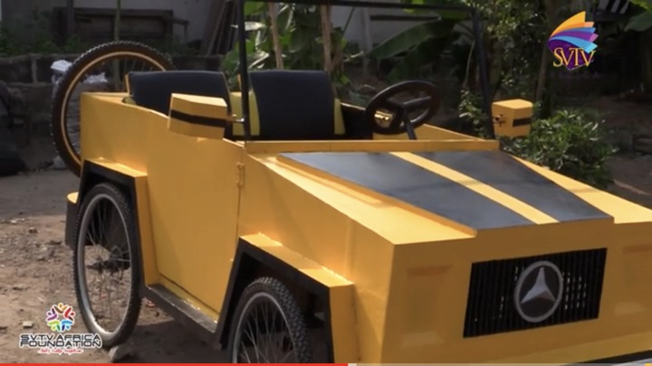d050328514be44f4be31667465c559d3?quality=uhq&resize=720 - 'Ghana Got Talent': JHS Leaver Builds Benz Car With A Paddle Which Has Caused Massive Stir