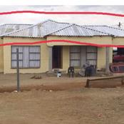He was just showing off his house but Mzansi noticed something on the roof of the house