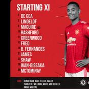 Manchester United starting line up to face Chelsea