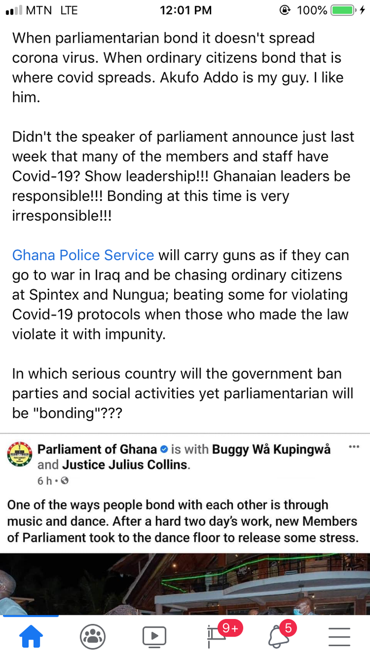 """d0aa6bc3c57b47a7a4debe3ddc0e40ff?quality=uhq&resize=720 - """"Ghanaian Leaders Are Irresponsible"""" - A Plus Slams Gov't After MPs Were Seen Dancing Together Amid The Massive Increase In COVID-19 Cases"""