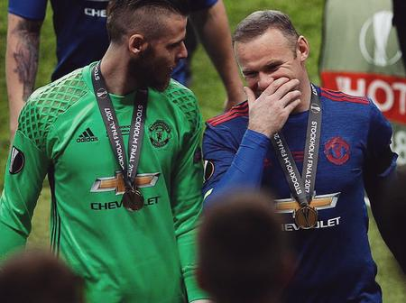 Checkout how De Gea reacted to Wayne Rooney's retirement