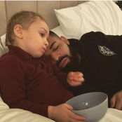Drake Shares Adorable Pictures & Sweet Message For His 3-Year-Old Son, Adonis On Instagram.