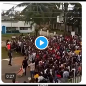 After they emptied the warehouse filled with food, see what youths gathered in front of Army to do