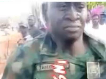 See What a Soldier did to a Man after Picking up Stone (Video)