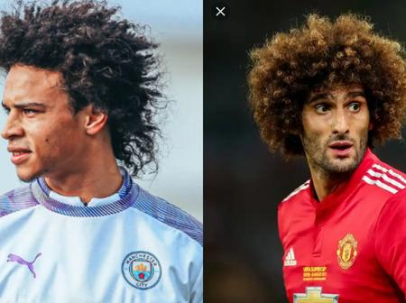 Check out famous footballers with and without their afro hairstyle