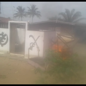 Otumfour's SHRINE set on fire as youth of 2 feuding Kumasi towns clash; police, soldiers fire rifles