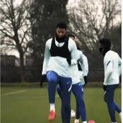 Fans React As Chelsea New Signing Finally Trained With His New Teammates