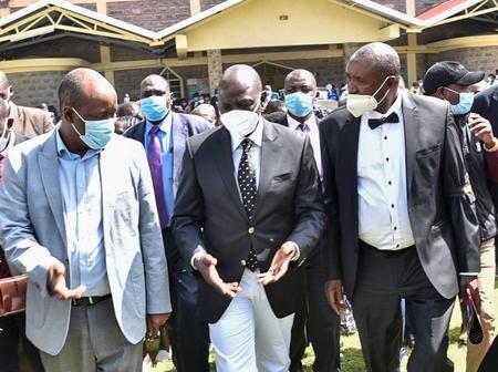Dp Ruto Attends Burial of Kimani Ngujiri's Mother