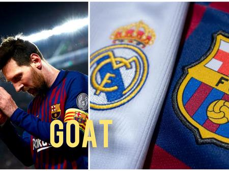 Messi Is Still The Best. Checkout The Top 5 Goal Scorers In El Clasico History