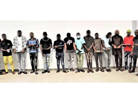 Here is The list of names of the twenty-one internet fraudsters arrested in Abuja and Niger state
