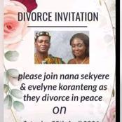 Ghana: un couple adresse des cartes d'invitation pour leur divorce