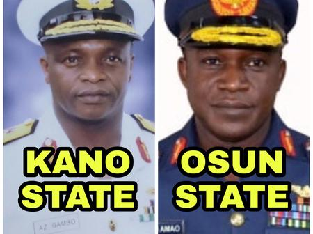 States Of Origin Of The New Service Chiefs Appointed Yesterday
